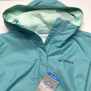 🆕 COLUMBIA Blue Waterproof Rain Coat / Jacket